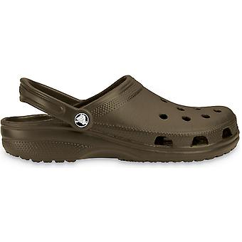 Crocs Ladies Classic Unisex Croslite Breathable Strap Beach Clog Brown