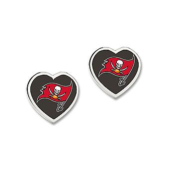 Wincraft ladies 3D heart Stud Earrings - NFL Tampa Bay Buccaneers