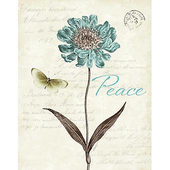 Planlagt blå IV Poster trykk av Katie Pertiet