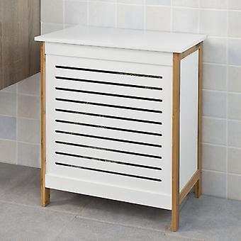 SoBuy Laundry Basket Laundry with Hinged Lid,FSS66-WN