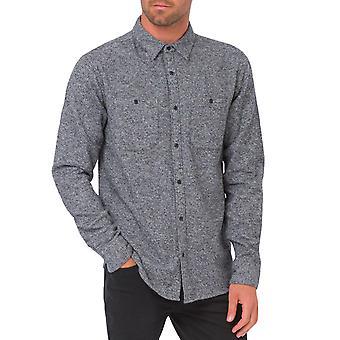 Tierische Mens Lärm lange Ärmel zwei Tasche gedrückt Casual Shirt Top