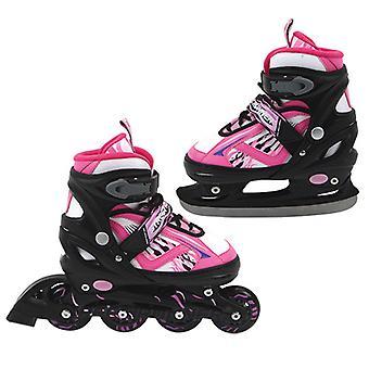 Inline Skate/Schaats 2in1 Abec 7 Roze Maat 39-42