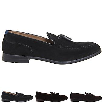Mens H By Hudson Aylsham Crafted Suede Work Smart Office Loafers Shoes