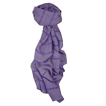 Вьетнамский длинный Шелковый шарф оттенок ткать фиолетовый, пашмины & шелка