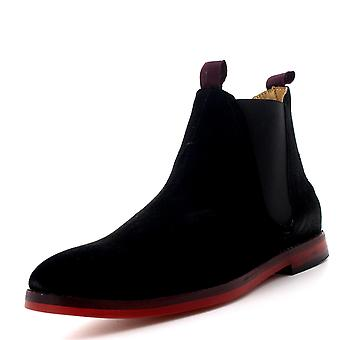 Mens H By Hudson Tamper Ankle Suede Smart Elastic Casual Chelsea Boots