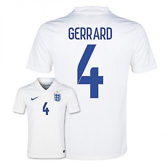 2014-15 England World Cup Home Shirt (Gerrard 4)