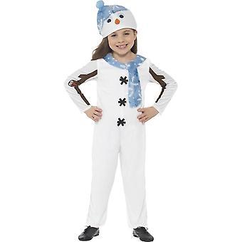 雪だるまの幼児の衣装、小さな年齢 4-6