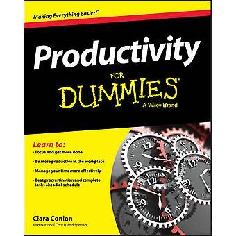 Productivity For Dummies by Ciara Conlon - Wiley - 9781119099529 Book