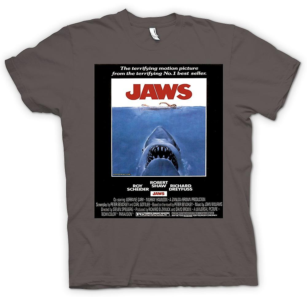 Womens T-shirt-Jaws - Horror - Shark - B-Film - Poster