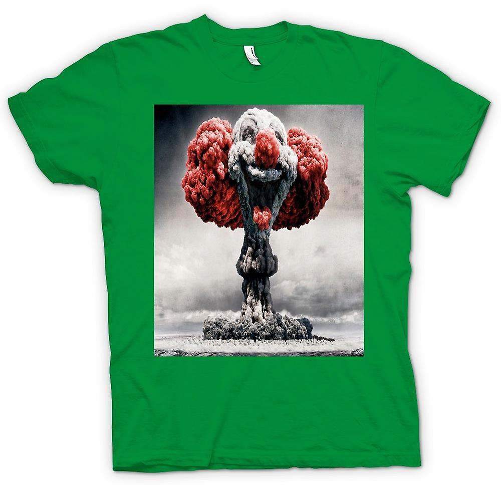 Heren T-shirt-kernexplosie Clown gezicht