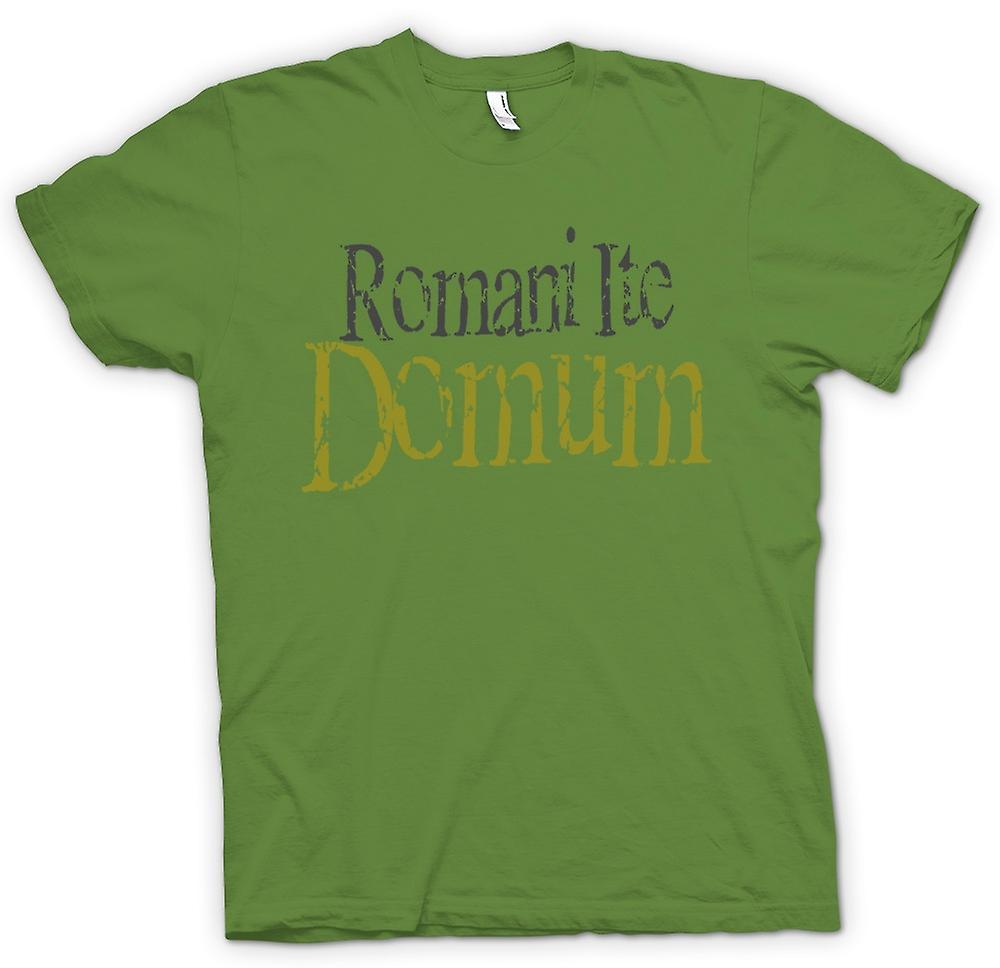 Mens T-shirt - Romani Ite Domum - Funny