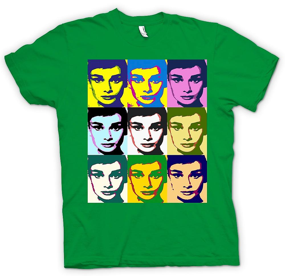 Mens t-skjorte - Audrey Hepburn legenden - Pop Art