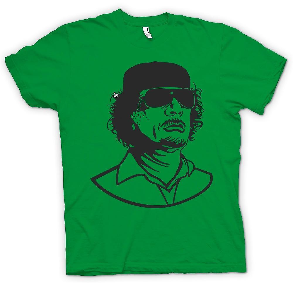 Hommes T-shirt - Kadhafi - dictateur libyen Portrait