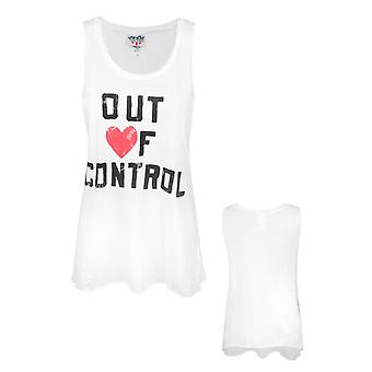Junk Food Out Of Control Women's Vest White