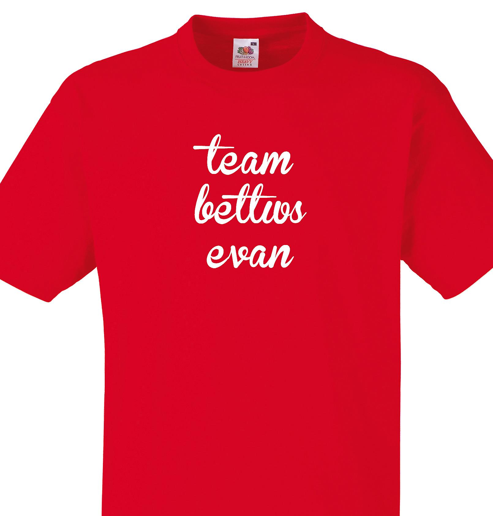 Team Bettws evan Red T shirt