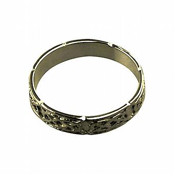 9ct Gold 4mm Celtic Wedding Ring Size R