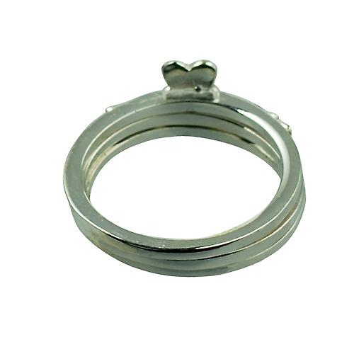 Silver 15mm 3 piece Claddagh Ring