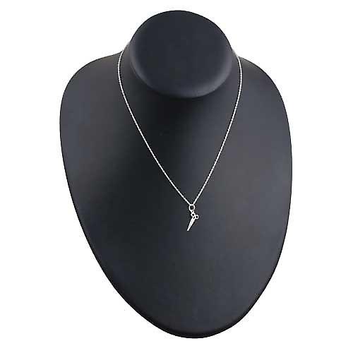 Silver 15x6mm seamstress's scissors Pendant with rolo chain