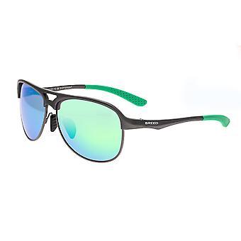 Breed Jupiter Aluminium Polarized Sunglasses - Gunmetal/Blue-Green