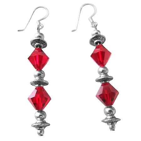 Christmas Gift Earrings Lite Siam Crystals