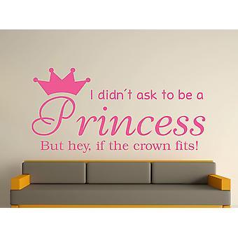 Being A Princess v2 Wall Art Sticker - Pink