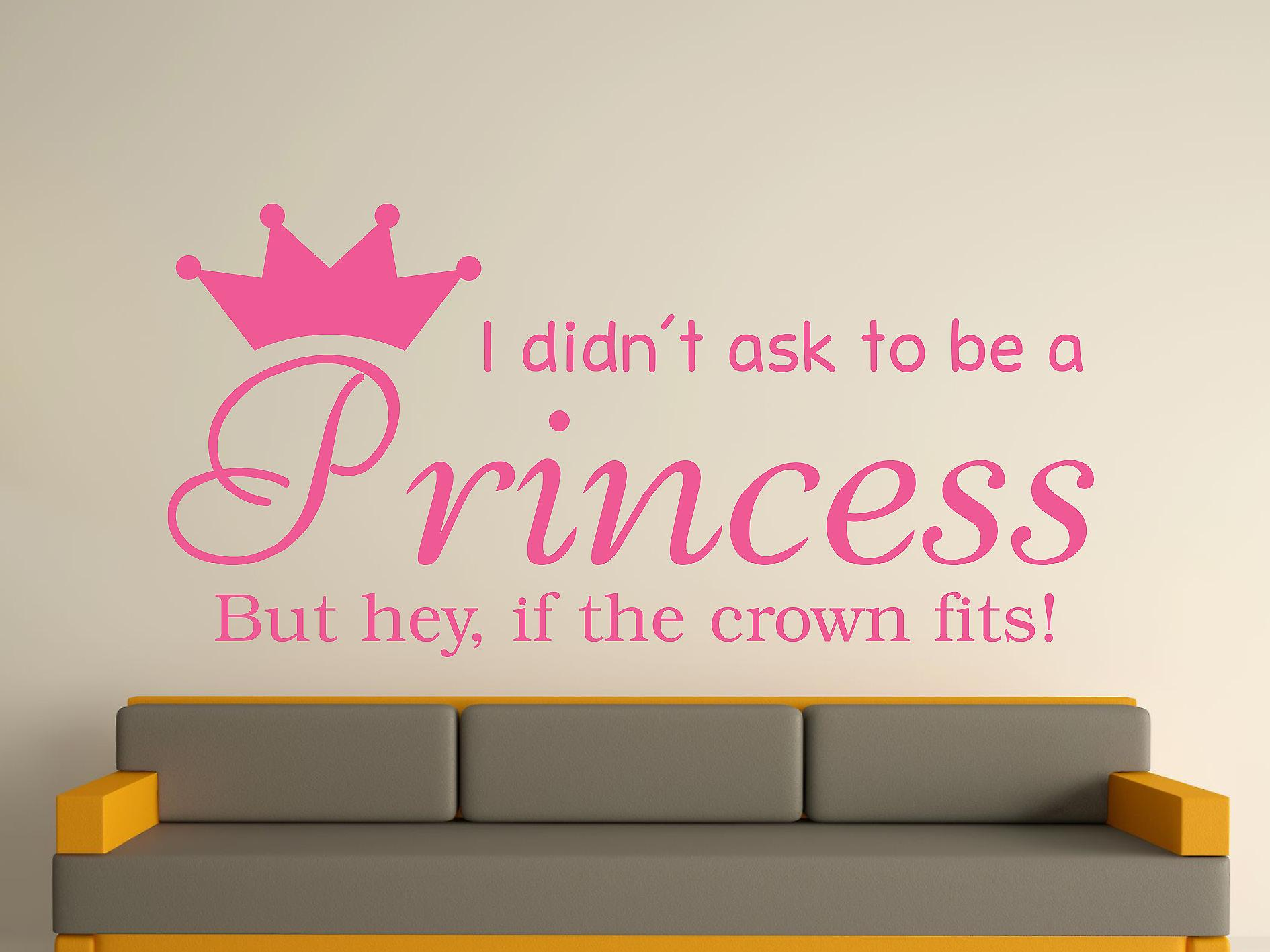 Être une princesse v2 Wall Art Sticker - Rose