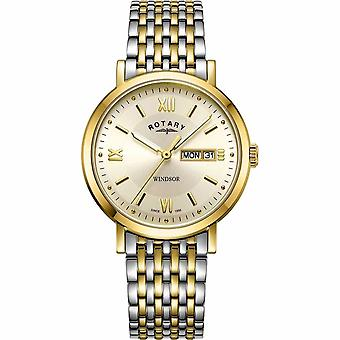 Rotary Mens Windsor Two Tone GB05301/09 Watch