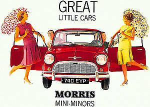 Morris Mini Minors Metal Sign   (hb)