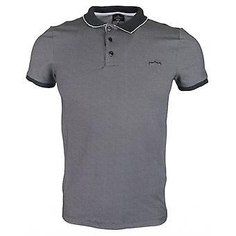883 Police Fino Cotton Black/grey Polo