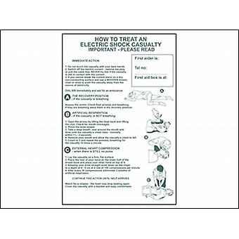 HOW TO TREAT AN ELECTRIC SHOCK CASUALTY - PVC 400 X 600MM