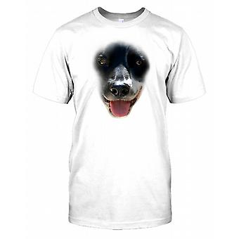 Border Collie stamtavla hund ansikte Mens T Shirt