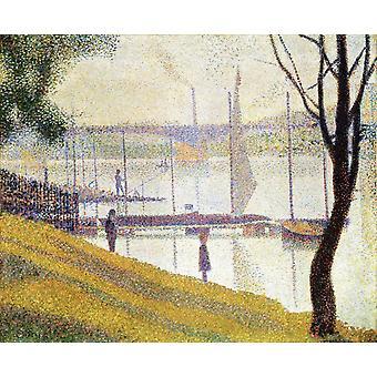 Impression Figure,Georges Seurat,45.7x54.7cm