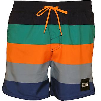 O'Neill Vert Horizon Stripes Swim Shorts, Blue/orange
