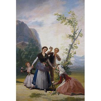 Spring, Francisco Goya, 40x60cm with tray