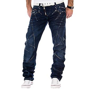 CIPO & BAXX Men's Straight Leg Jeans Dark Blue