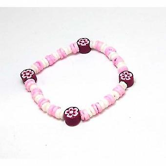 The Olivia Collection Pink  White and Flower Resin Beads 6