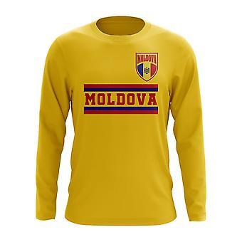 Moldova Core jalka pallo Country pitkähihainen T-paita (keltainen)