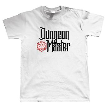 Dungeon Master Mens T-Shirt | Dungeons Dragon D&D DND Pathfinder 3.5 Tarrasque | Role Play Fantasy Pen Paper Games Bag Of Holding | Geek Gift Him Dad