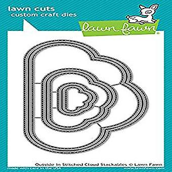 Lawn Fawn Outside In Stitched Cloud Stackables Dies (LF1716)