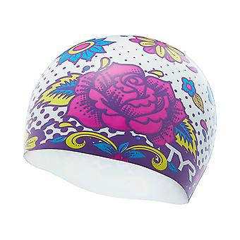Silicone Flower Power Swim Cap