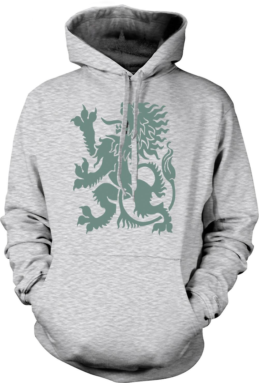 Mens Hoodie - Welsh Dragon - Heraldy - Cool