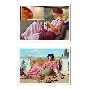 2 art-affischer 30 x 40 cm-klassisk x modernitet-Jose Guerrero