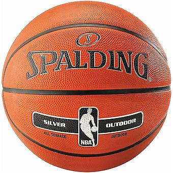 Spalding NBA Silver Outdoor Basketball Tamaño 3