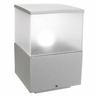 1 Light Medium Outdoor Bollard Light Grey Ip54