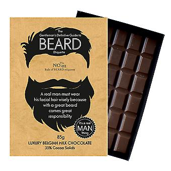 Funny Gifts For Bearded Men Beard Lover Present Chocolate Greeting Card Oncocoa BTQ111