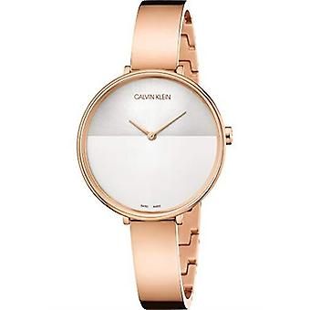 Calvin Klein Rise Rose Gold Stainless Steel Ladies Watch K7A23646