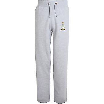 Queens Ghurka Signals - Licensed British Army Embroidered Open Hem Sweatpants / Jogging Bottoms