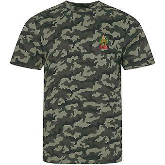 Engenheiro de combate Royal Engineers-licenciado exército britânico bordado camuflagem impressão T-shirt