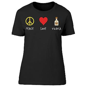 Peace Love Vodka Tee Donne's -Immagine di Shutterstock