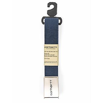 Carhartt WIP Clip Belt Chrome - Blue